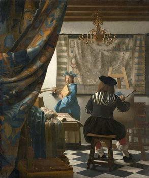 Reprodução do quadro The Artist's Studio, c.1665-66
