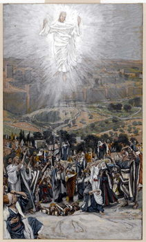 Reprodução do quadro The Ascension from the Mount of Olives, illustration for 'The Life of Christ', c.1884-96