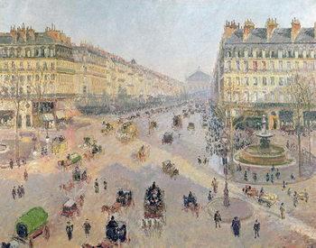 Reprodução do quadro The Avenue de L'Opera, Paris, Sunlight, Winter Morning, c.1880