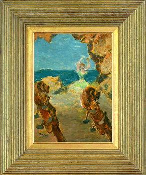 Reprodução do quadro The Ballet Dancer, 1891 (oil on mahogany panel)