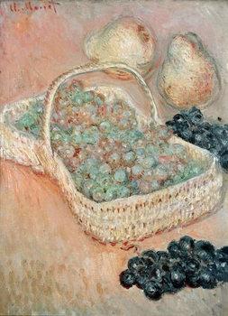 Reprodução do quadro The Basket of Grapes, 1884
