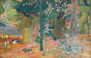 Reprodução do quadro The Bathers, 1897