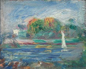 Reprodução do quadro The Blue River, c.1890-1900