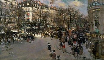 Reprodução do quadro The Boulevard des Italiens, c.1900
