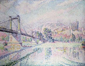 Reprodução do quadro The Bridge, 1928