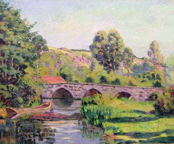 Reprodução do quadro The Bridge at Boigneville, c.1894