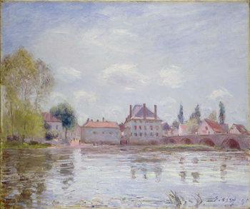 Reprodução do quadro The Bridge at Moret-sur-Loing, 1890