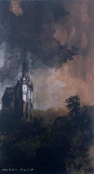 Reprodução do quadro The Castle in the Moonlight