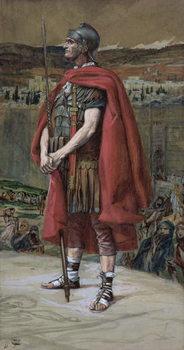 Reprodução do quadro The Centurion, illustration for 'The Life of Christ', c.1886-94