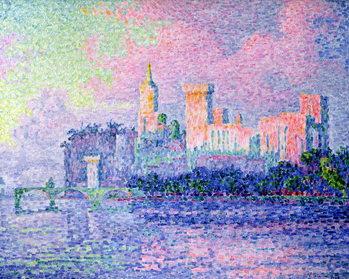 Reprodução do quadro The Chateau des Papes, Avignon, 1900