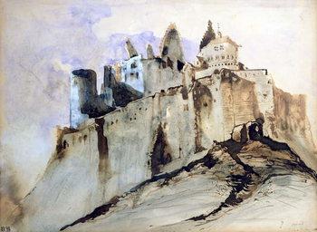 Reprodução do quadro The Chateau of Vianden, 1871