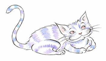 Reprodução do quadro The  Cheshire Cat - illustration to  Lewis Carroll 's 'Alice's Adventures in Wonderland' , 2005