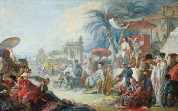 Reprodução do quadro The Chinese Fair, c.1742