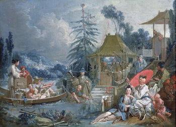 Reprodução do quadro The Chinese Fishermen, c.1742
