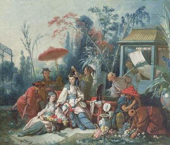 Reprodução do quadro The Chinese Garden, c.1742