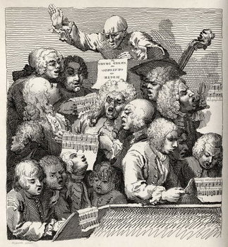 Reprodução do quadro The Chorus, from 'The Works of William Hogarth', published 1833