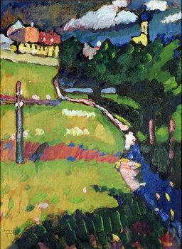 Reprodução do quadro The Church in Murnau, 1908-09