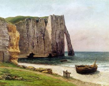 Reprodução do quadro The Cliffs at Etretat, 1869