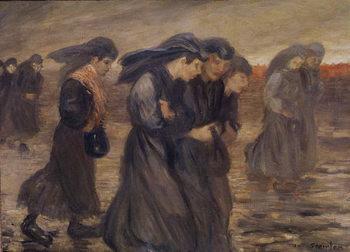 Reprodução do quadro The Coal Graders, 1905