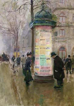 Reprodução do quadro The Colonne Morris, c.1885