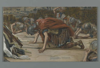 Reprodução do quadro The Confession of the Centurion, illustration from 'The Life of Our Lord Jesus Christ', 1886-94
