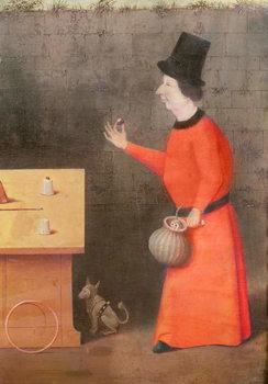 Reprodução do quadro The Conjuror, detail (oil on panel)