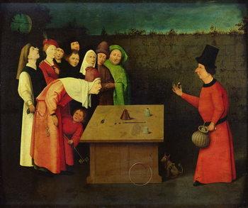 Reprodução do quadro The Conjuror (oil on panel)