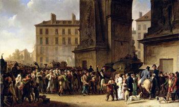Reprodução do quadro The Conscripts of 1807 Marching Past the Gate of Saint-Denis (oil on canvas)