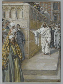 Reprodução do quadro The Corner Stone, illustration from 'The Life of Our Lord Jesus Christ', 1886-94