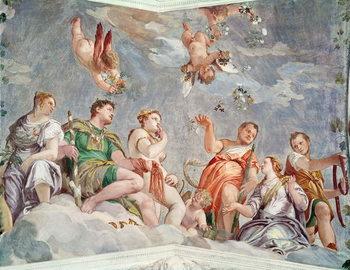 Reprodução do quadro The Court of Love or, The Conjugal Virtues, 1562