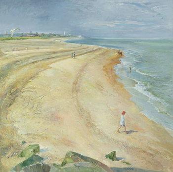 Reprodução do quadro The Curving Beach, Southwold, 1997