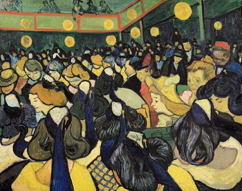 Reprodução do quadro The Dance Hall at Arles, 1888