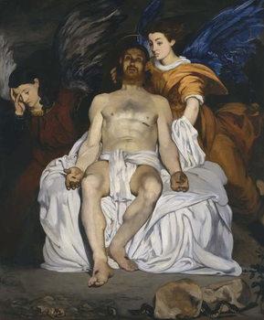Reprodução do quadro The Dead Christ with Angels, 1864