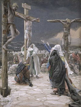Reprodução do quadro The Death of Jesus, illustration for 'The Life of Christ', c.1884-96