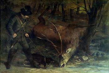 Reprodução do quadro The Death of the Stag, 1859