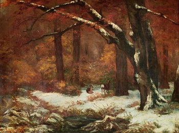 Reprodução do quadro The Deer Retreating