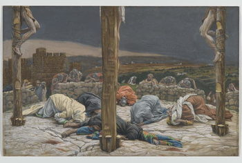 Reprodução do quadro The Earthquake, illustration from 'The Life of Our Lord Jesus Christ', 1886-94