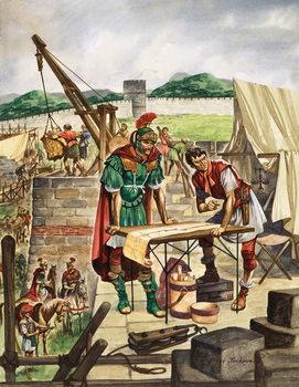 Reprodução do quadro The Emperor Hadrian checks work
