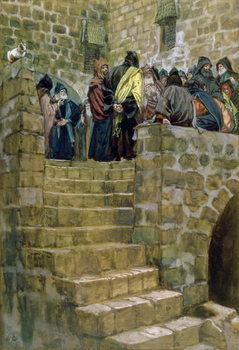 Reprodução do quadro The Evil Counsel of Caiaphas, illustration for 'The Life of Christ', c.1886-96