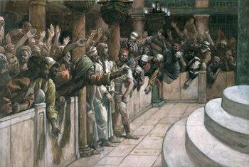 Reprodução do quadro The False Witness, illustration for 'The Life of Christ', c.1884-96