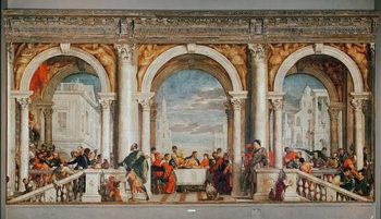 Reprodução do quadro The Feast in the House of Levi