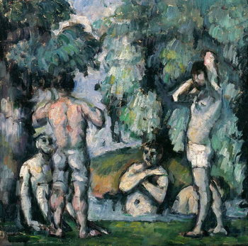 Reprodução do quadro The Five Bathers, c.1875-77