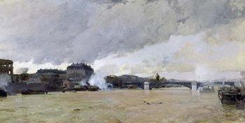 Reprodução do quadro The Flooding of the Seine, c.1903