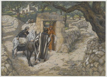 Reprodução do quadro The Foal of Bethpage, illustration from 'The Life of Our Lord Jesus Christ', 1886-94