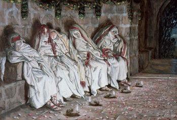 Reprodução do quadro The Foolish Virgins, illustration for 'The Life of Christ', c.1886-94