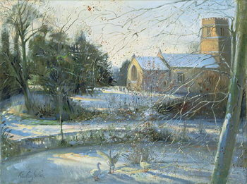 Reprodução do quadro The Frozen Moat, Bedfield