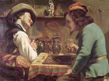 Reprodução do quadro The Game of Draughts, 1844