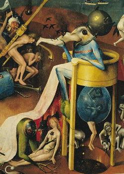 Reprodução do quadro The Garden of Earthly Delights, 1490-1500