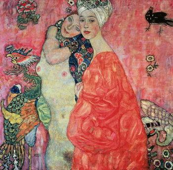 Reprodução do quadro The Girlfriends, 1916-17