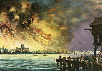 Reprodução do quadro The great fire of London